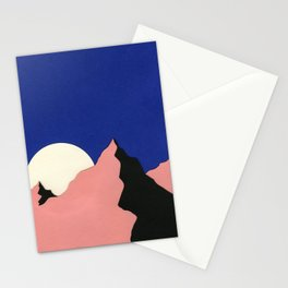 Death Valley Moon II Stationery Cards