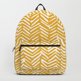 Boho Mudcloth Pattern, Summer Yellow Backpack