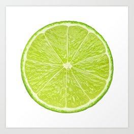 Slice of lime Art Print