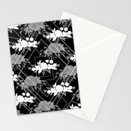 Geometrical modern black white floral pattern Stationery Cards