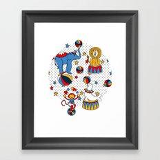 Little Circus Stars on White Framed Art Print