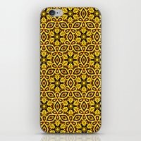 damask iPhone & iPod Skins featuring vintage damask by clemm