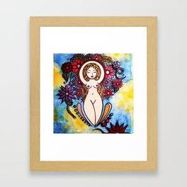 3d nude spiral goddess Framed Art Print