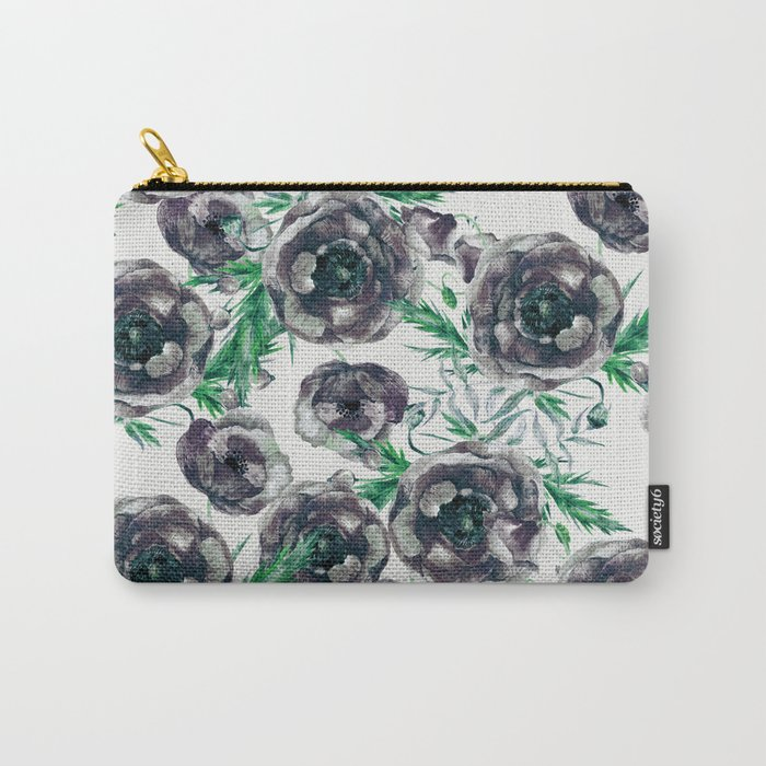 Black Poppies Carry-All Pouch