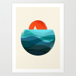Deep blue ocean Art Print