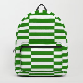 Strips - green and white. Backpack