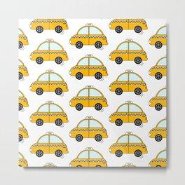 NYC taxi pattern Metal Print