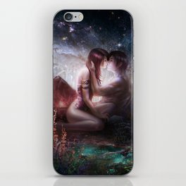 Counting stars - Romantic couple kissing iPhone Skin