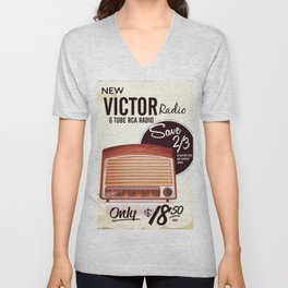 Vintage American radio advert Unisex V-Neck