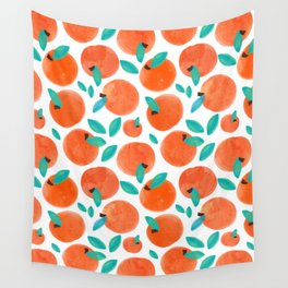 Coral Fruit #painting #pattern Wall Tapestry