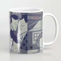american psycho Mugs featuring Psycho by Ale Giorgini