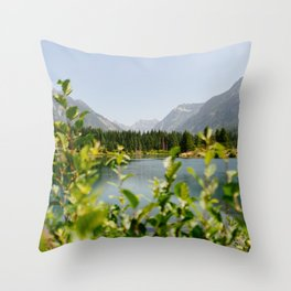 Gold Creek Pond Throw Pillow