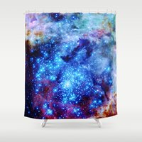 valentina Shower Curtains featuring galaxy by 2sweet4words Designs