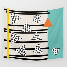 shapes and colors in wild wild greens Wall Tapestry