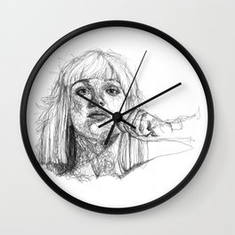 Sia Scribbles (Pen Art) Wall Clock