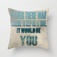 """lyrics Throw Pillows featuring """"Guaranteed"""" Lyrics by Asher Stusek"""