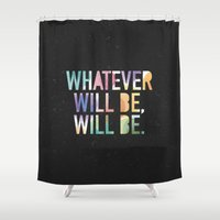 whatever Shower Curtains featuring Whatever by TheSmallCollective