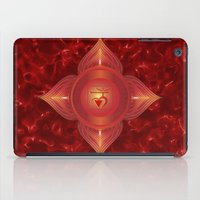 chakra iPad Cases featuring Root Chakra by Gypsy Owl Productions