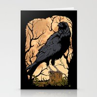 crow Stationery Cards featuring Crow by Murat Sünger