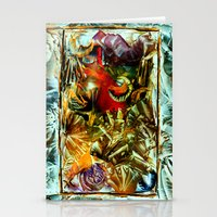 metallic Stationery Cards featuring Metallic by Vargamari