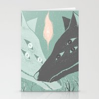 wolves Stationery Cards featuring Wolves by Kelsey King Illustration