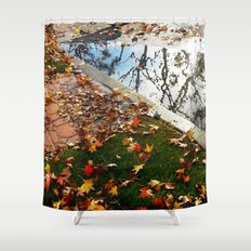 Wet December Morning in California Heights Shower Curtain