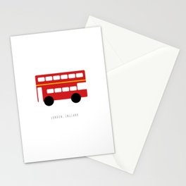 London Red Bus Stationery Cards