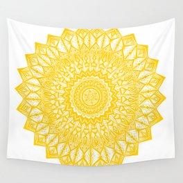 Sunshine-Yellow Wall Tapestry