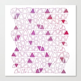 Tribal Triangles - Hot Pink Canvas Print