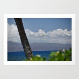 Parasailing in Maui Art Print