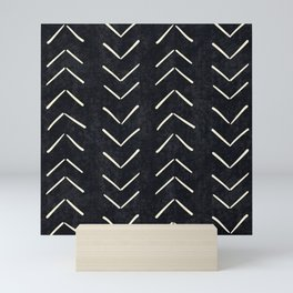 Mudcloth Big Arrows in Black and White Mini Art Print