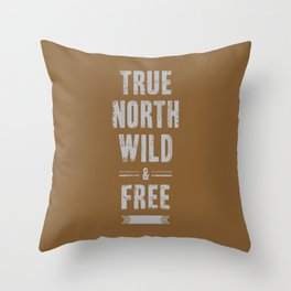 True North Throw Pillow