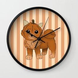 Pumpkeranian Wall Clock