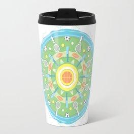 play outdoors mandala Travel Mug