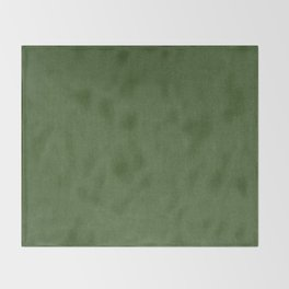 Sage Green Velvet texture Throw Blanket