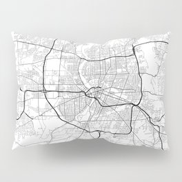 Minimal City Maps - Map Of Rochester, New York, Untited States Pillow Sham