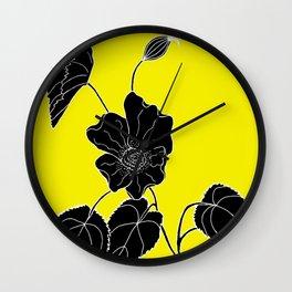 Desert Lantern - Abutilon leucopetalum Wall Clock