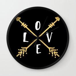 BOHO LOVE - Arrows and Adventure Wall Clock