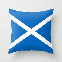 Blue and White Scottish Flag Throw Pillow