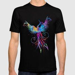 Phoenix Watercolor Print Nursery Art Gift for Her Bird Art T-shirt