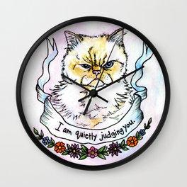 Judging You - a cat's life Wall Clock
