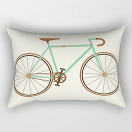 Green Fixie Rectangular Pillow