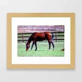 Out for a snack Framed Art Print