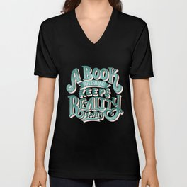 Book A Day Keeps Reality Away - Peach Mint Unisex V-Neck