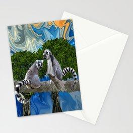 Playful Lemur-ick  Stationery Cards