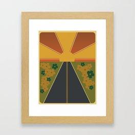 Flower Fields Forever Framed Art Print