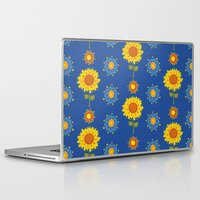 ukraine Laptop & iPad Skins featuring Sunflowers of Ukraine by rusanovska