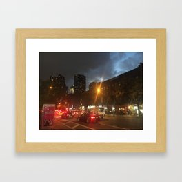 Lure of City Nights Framed Art Print