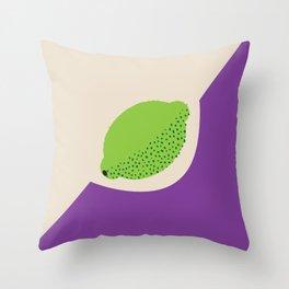 Fruitbowl, Lime Throw Pillow