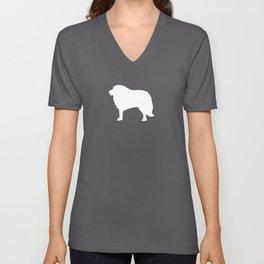 Big White Dog Unisex V-Neck